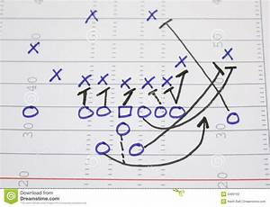 Football Play Sweep Diagram Stock Photos
