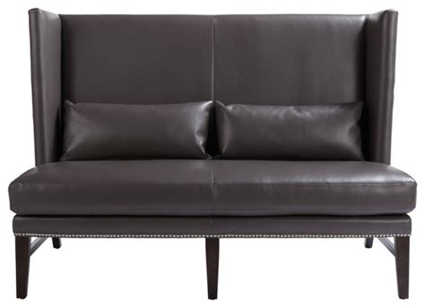 Wing Back Settee by Wing Back Leather Settee Eclectic Loveseats Toronto