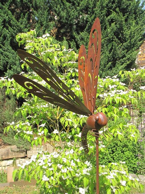 Gartendeko Libelle by Edelrost Gartenstecker Libelle Monja Garden Dekoshop