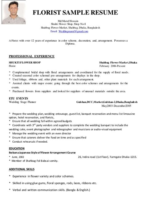 Floral Designer Description Resume by Search Results For Flower Writing Templates Calendar 2015