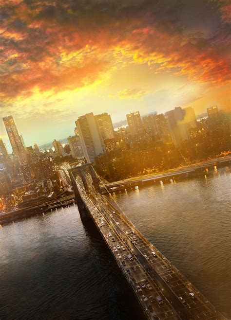 wallpaper brooklyn bridge cityscape sunset  york
