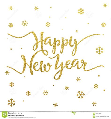 gold lettering design  card happy  year stock vector
