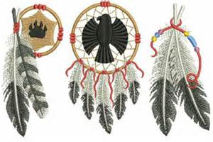 Native American Feathers Embroidery Design