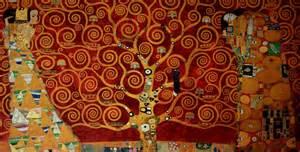 gustav klimt l arbre de vie 1909 rouge luxueuse