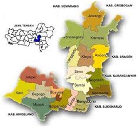 gambar peta kabupaten boyolali terbaru gambar peta