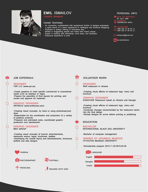 Cv Style by Free Style Cv Template In Psd Format Resume