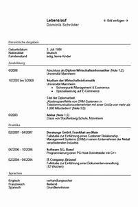 tabellarischer lebenslauf englisch vorlage anschreiben 2018 With tabellarischer lebenslauf englisch muster