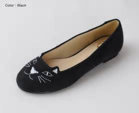 cat flats shoes annakastle new womens kitty cat loafer