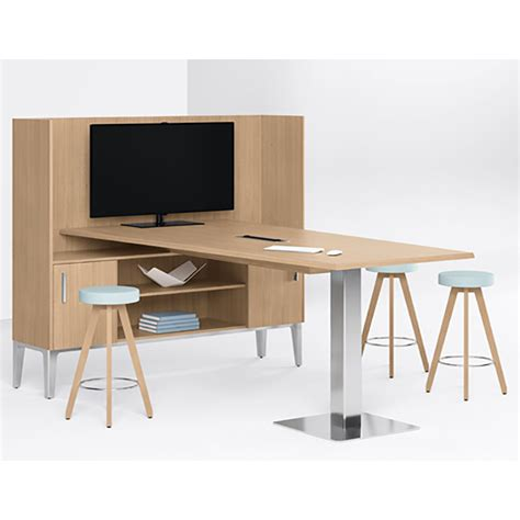 domo bar height media unit workplace partners