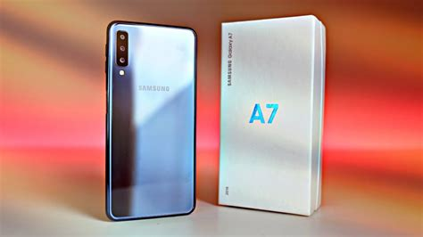 samsung galaxy a7 2018 quot black quot unboxing youtube