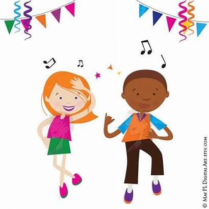 Dancing Dance Clipart Disco Children Boy Celebration