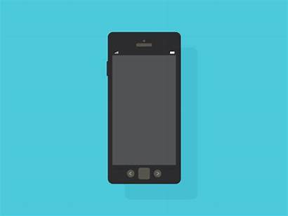 Animated Iphone Email Dribbble Phone Gifs Giphy