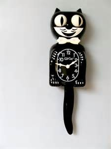 cat clock vintage cat clock memories