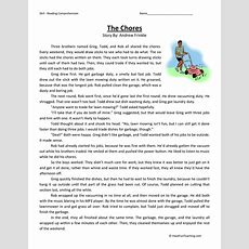 Chores  Reading Comprehension Worksheet  Have Fun Teaching