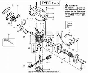 Poulan 2175 Gas Saw Type 1  Wildthing 2175 Gas Saw Type 1 Parts Diagram For Engine Assembly Type 1