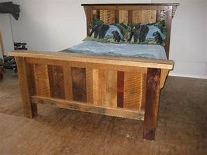 rustic barn wood furniture king size bed custom With barn wood king size bed