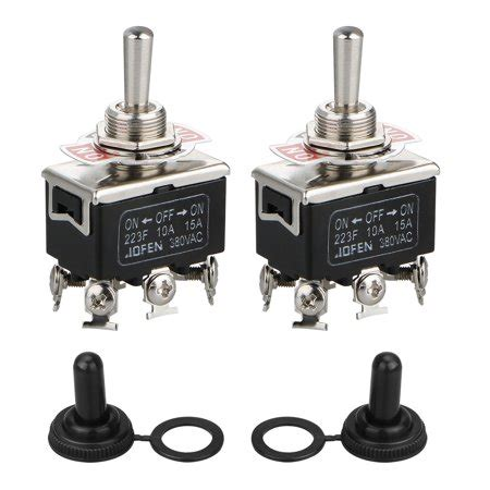 Pack Black Waterproof Dpdt Momentary Switch Toggle