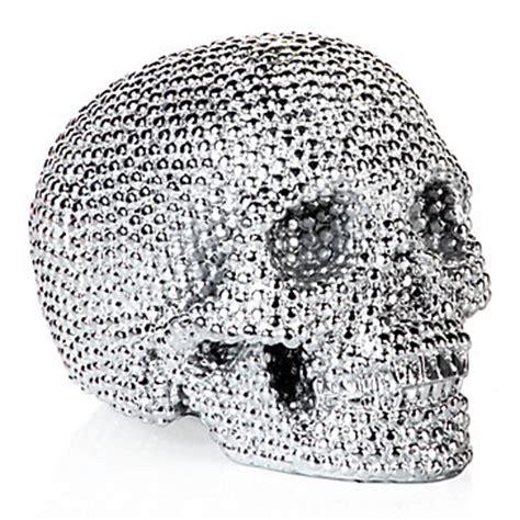 skull home decor skull decor glamorous metallic skull z gallerie
