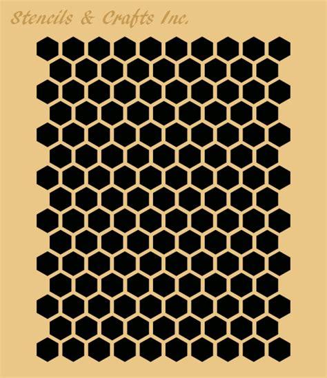 honeycomb stencil hexagon beehive stencils craft