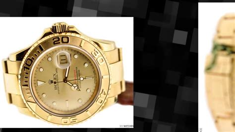rolex oyster perpetual date yacht master 18k gold