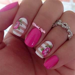 Pink nail art designs ideas