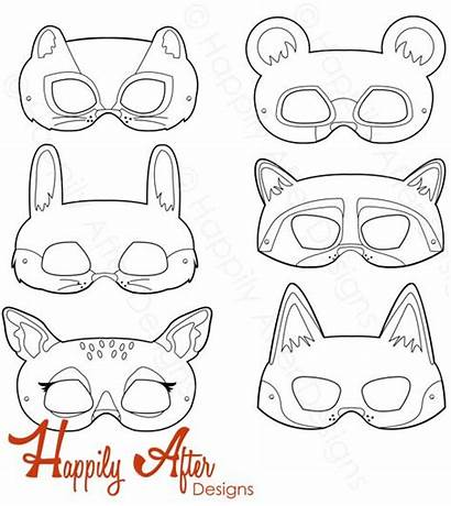 Woodland Animal Bing Printable Masks Mask Bear