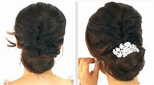 5MIN EASIEST PARTY UPDO EVERYDAY BRAIDED BUN PROM HAIRSTYLES FOR MEDIUM LONG HAIR TUTORIAL