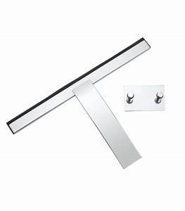 Appareil Pour Laver Les Vitres : raclette lave vitre avec support inox pour salle de bain ~ Nature-et-papiers.com Idées de Décoration