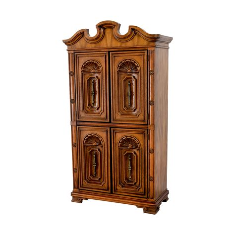 Buy Armoire - 90 seaman s seaman s carved wood armoire storage