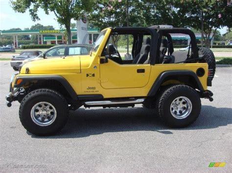 jeep yellow solar yellow 2006 jeep wrangler x 4x4 exterior photo