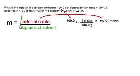 2 liters in kg molality convert mass to moles and liters to kilograms