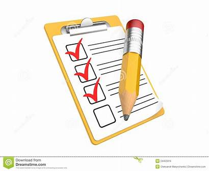 Checklist Clipboard Clipart Background Check Writing Royalty