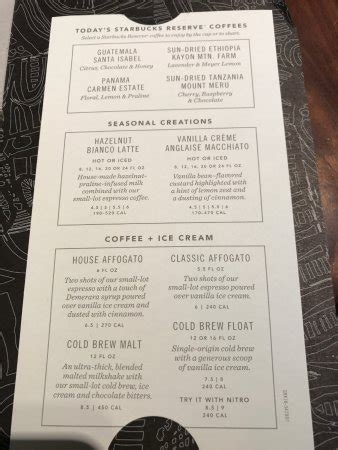 Looking for the secret menu items from starbucks coffee that no one knows about? Small lot coffee menu - rotates - Picture of Starbucks Reserve, Plano - Tripadvisor
