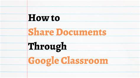 Teachersfly   Three Ways to Share Docs in Google Classroom ...