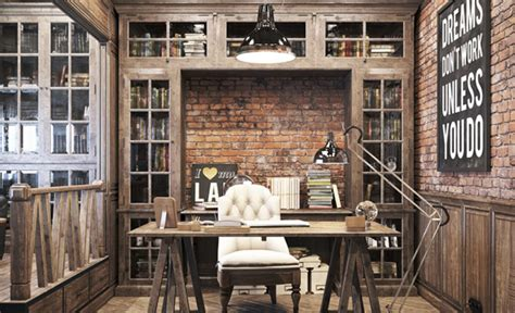 vintage office design  private residence adorable home