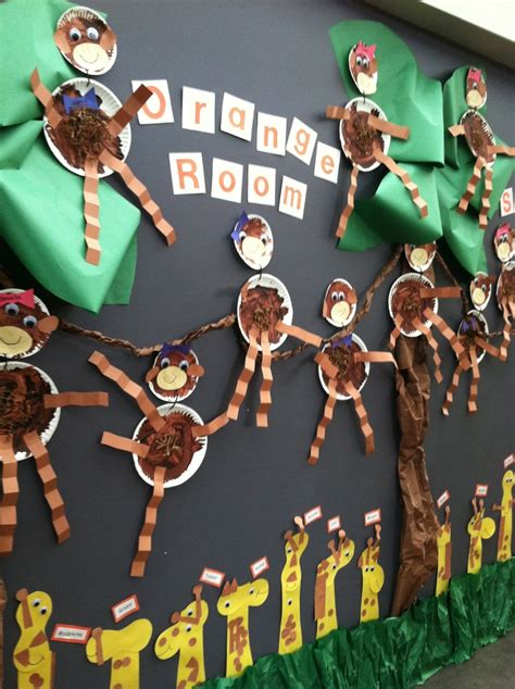 25 best ideas about jungle bulletin boards on 434 | 4513308daf23d52642d2a963060a02b5 jungle crafts preschool jungle