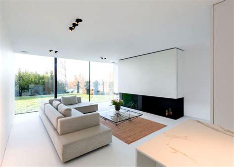 modern cube shaped house  belgium interiorzine