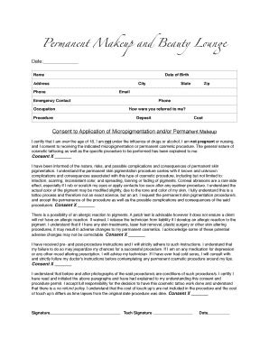 consent form for microblading permanent makeup consent form emo makeup