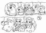 Coloring Hamsters Tunnel Hamtaro Criceti Colorare Scavano Che Colorear Designlooter Disegni Gratis Anime Guardado Desde Books sketch template