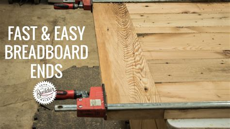 create woodworking breadboard ends quick  easy youtube