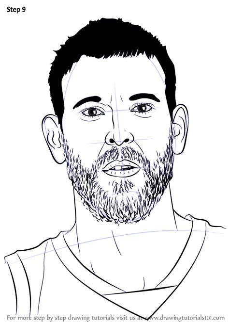learn   draw marc gasol basketball players step