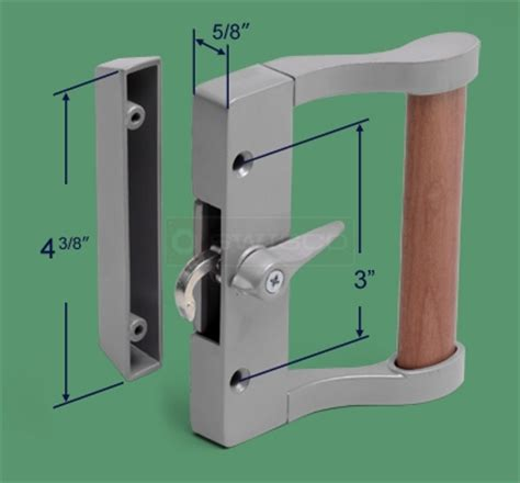 82 013 sliding door handle set 3 quot centers swisco