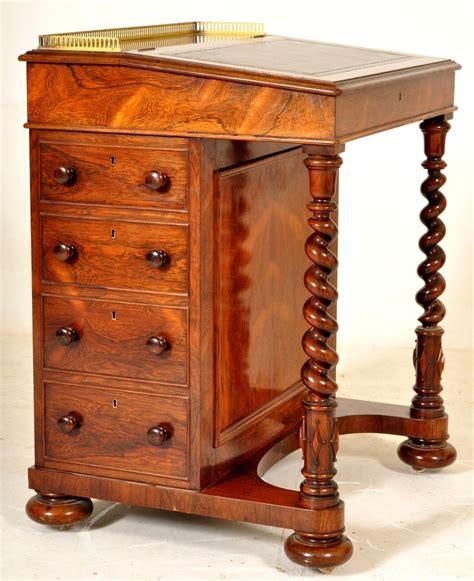 important antique rosewood victorian davenport secretary