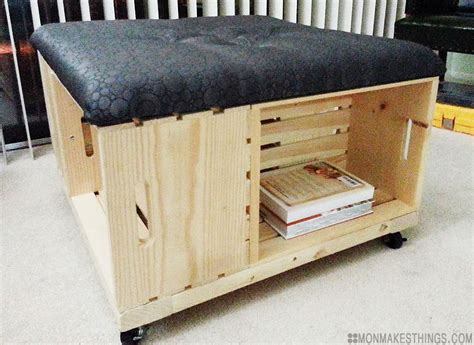 how to build an ottoman mon makes things storage ottoman diy