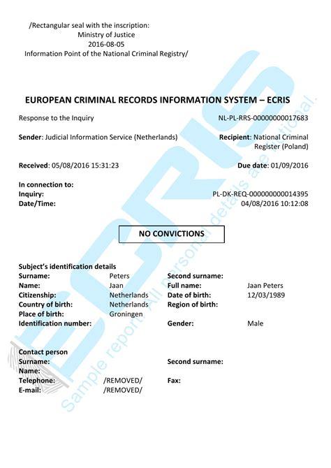 dutch criminal record check  casier judiciaire