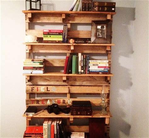 bookshelf made from pallets diy pallet bookshelf plans or wooden