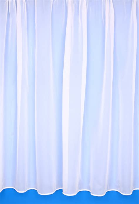 Voile Curtains by Fr Plain White Voile Curtains Woodyatt Curtains