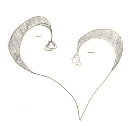 Cute Penguin Love Drawings