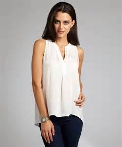 Sleeveless Silk Blouses for Women