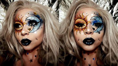 sun moon glitter face chart makeup glaminstagram makeup youtube